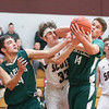 Steven Webster catches an elbow to the face as he battles for a rebound Thursday, Feb. 13.