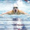 Brock Sgrecci competes in the breaststroke event for Odessa, Saturday.