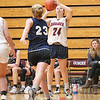 Makenzie Cratsley shoots for the Lady Scots last Friday at Dundee.