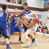 Cody Salamendra drives to the basket in the game with Honeoye Wednesday, Jan. 29.