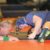 Mason Petersen pins his opponent in the match against South Seneca, Thursday, Jan. 30.