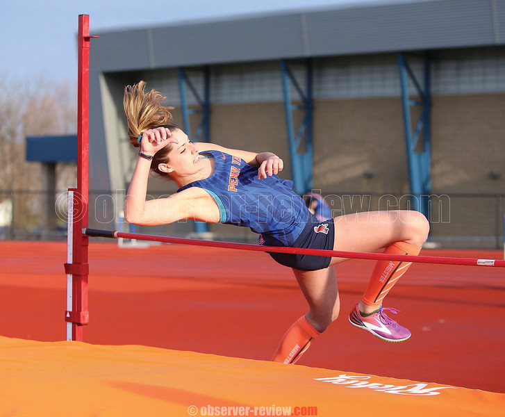 Allyssa Johnson competes in the high jump event last Tuesday.