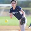 Claudia Parker pitches for Watkins Glen, Monday, April 17.