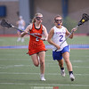 Alli Olevnik charges upfield in the game against Waterloo, Thursday, April 27.