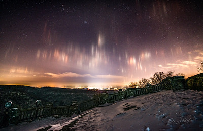 Coopers Rocks_Cross Country Skiing_Light Pilars_Winter_West Virginia_photo by Gabe DeWitt_Edit_February 20, 2015-1