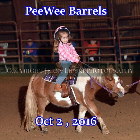 PeeWee Barrels  Oct 2 2016
