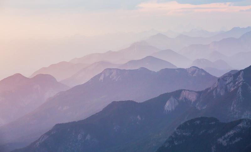 Alpine Layers at Dusk