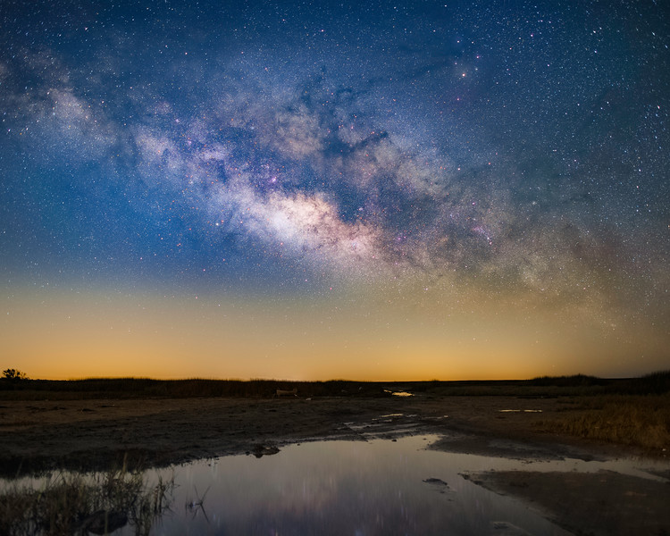 The Milky Way rising over Central Florida
