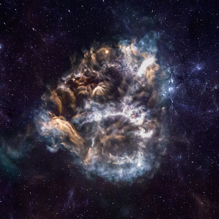 CRS-20 Rocket Nebula