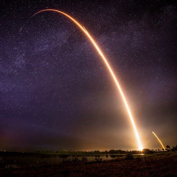 Rocket Launch and the Milky Way