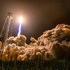The Antares Rocket lifts off the pad at the Mid-Atlantic Spaceport to deliver the Cygnus spacecraft to the ISS.
