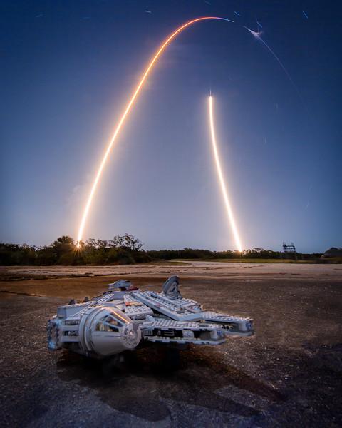 The Falcon 9 and The Millennium Falcon