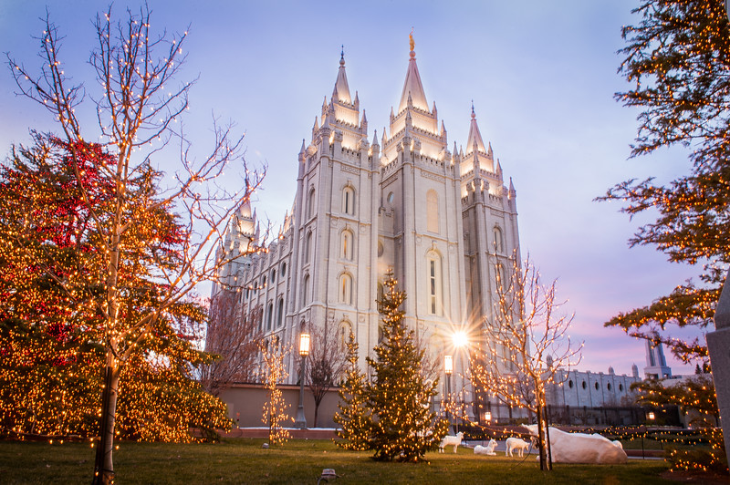Christmas at Salt Lake Temple
