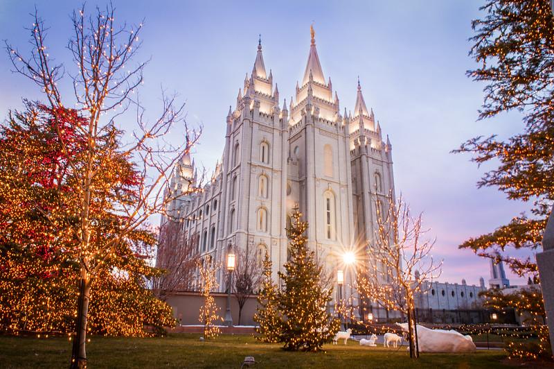 Christmas at Salt Lake Temple