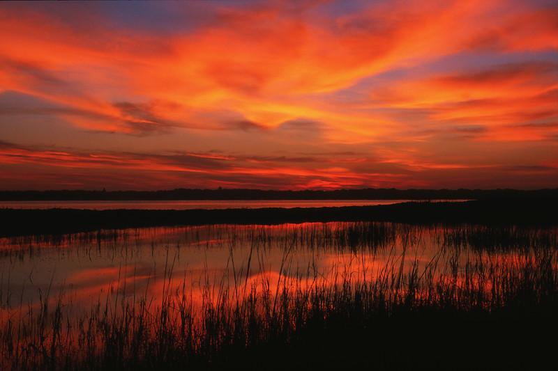 Sunset at Rocky Lake, Maine.