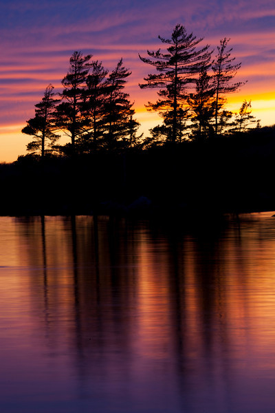 Sunset at Donnell Pond, Maine.