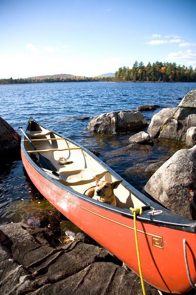 Fall at Schoodic Lake, Maine.
