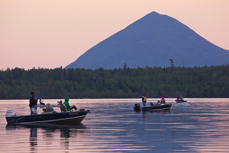 Magic Hour at Nesowadnehunk Lake, Maine.