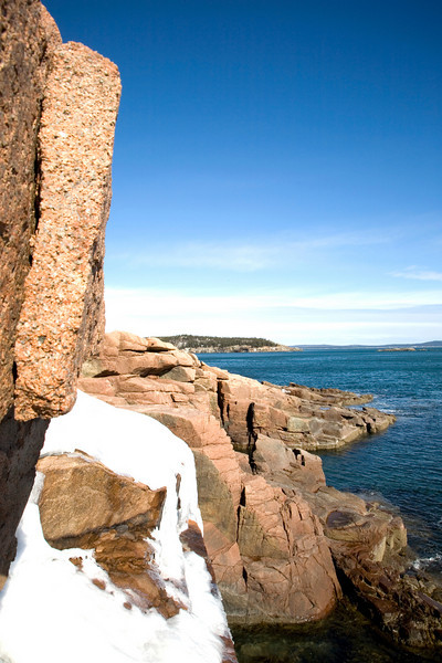 I almost fell off this cliff taking this image in Acadia National Park.<br /> Photo by,<br /> Daniel Straine