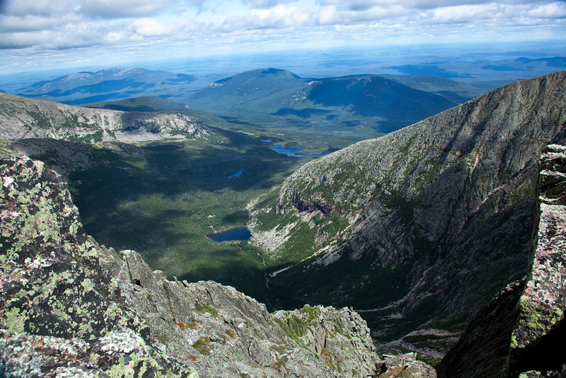 A view from the Knifes Edge in Baxter State Park.