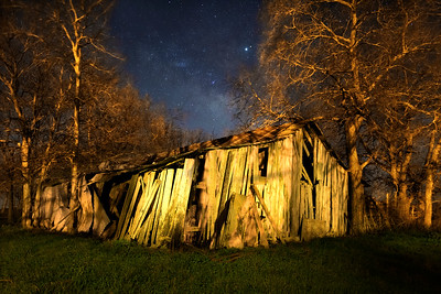 Our Old Barn Under the Milky Way