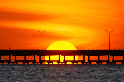 The Sun Setting into the Laguna Madre