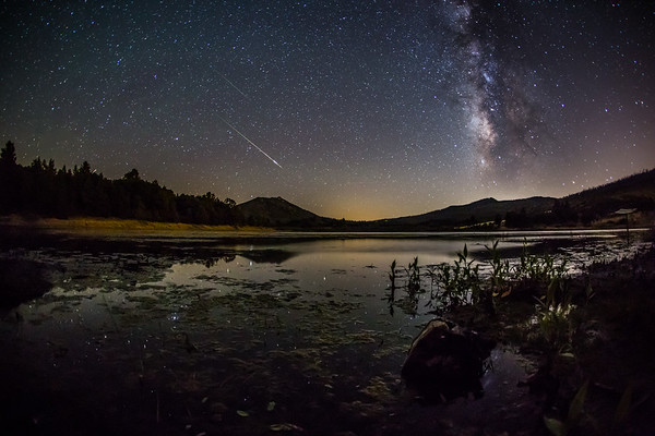 Perseids Over Lake Cuyamaca,CA