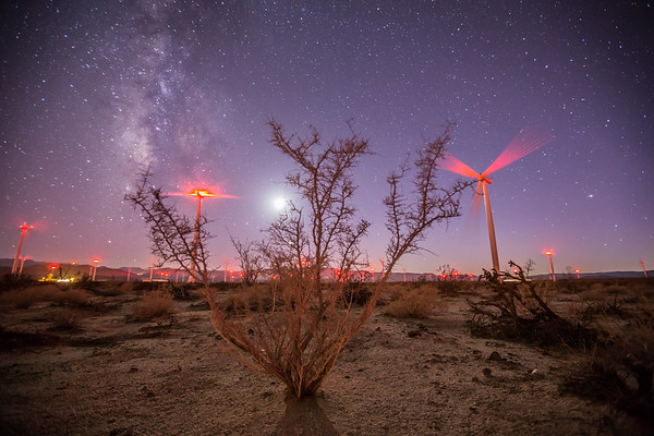 Ocotillo Wind Farm Milky Way