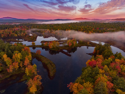 New Hampshire Fall Sunrise