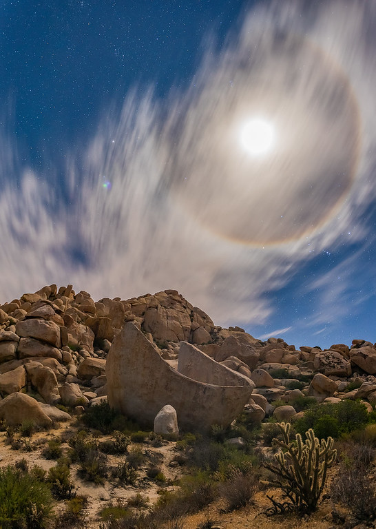 Lunar Halo Over Jacumba Hot Springs