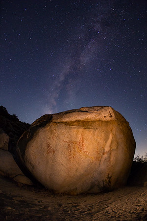 Milky Way Over Desert Petroglyphs