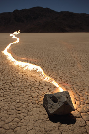 Racetrack Playa Moving Rocks