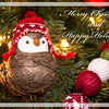 Christmas bird - brown