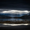 Moody sunset in Wanaka, New Zealand