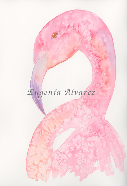 Flamingo -  Watercolor