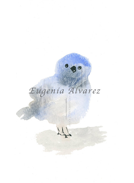 Little Blue Bird Watercolor Painting Art Print Fine Art Print from Watercolor Painting Bird Print Painting Art Minimalist Wall Art