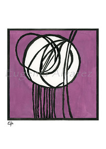 Rosebud Glass Panel by Charles Rennie Mackintosh - Watercolor Painting