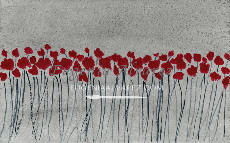 Poppy Flowers Watercolor
