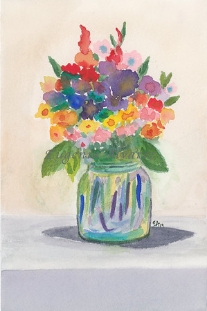 Colorful Flowers _ watercolor