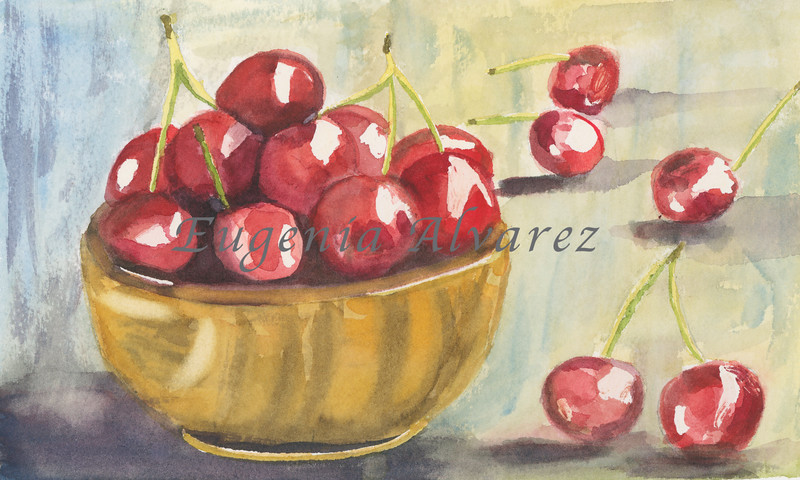 Cherries -  Watercolor