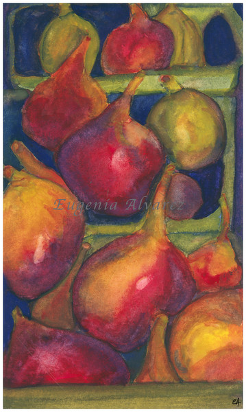Figs Watercolor Painting Art Print Fine Art Print from Watercolor Painting Figs Print Painting Art Kitchen Wall Art