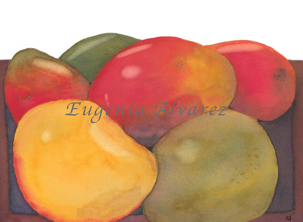Mangos Watercolor Painting Art Print Fine Art Print from Watercolor Painting Pears Print Painting Art Kitchen Wall Art