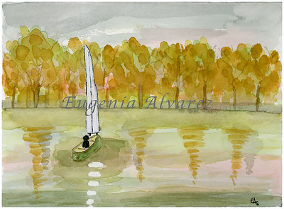Yellow Reflections Original Watercolor Painting Art Print from Watercolor Painting Fine Art Print Watercolor Wall Art