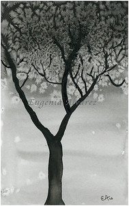 Winter Tree. Original Watercolor Painting Fine Art Print Landscape Art Print from Watercolor Painting Original Wall Art