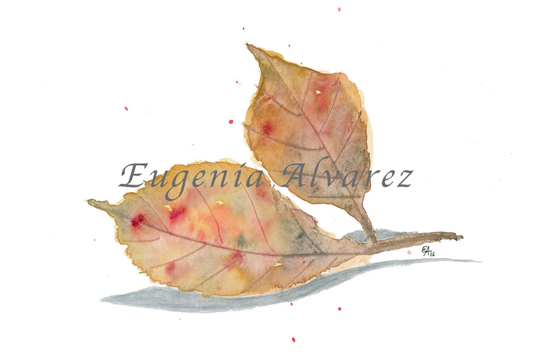 Fall Leaves Original Watercolor Painting Fine Art Print from Watercolor Painting Leaves Painting Art Watercolor Wall Art