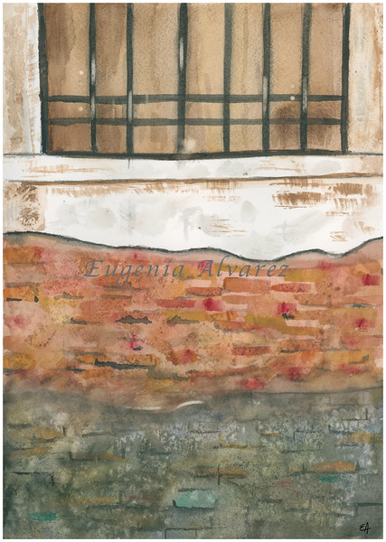 An Old Wall Watercolor Painting Art Print Fine Art Print from Watercolor Painting Painting Art Minimalist Wall Art