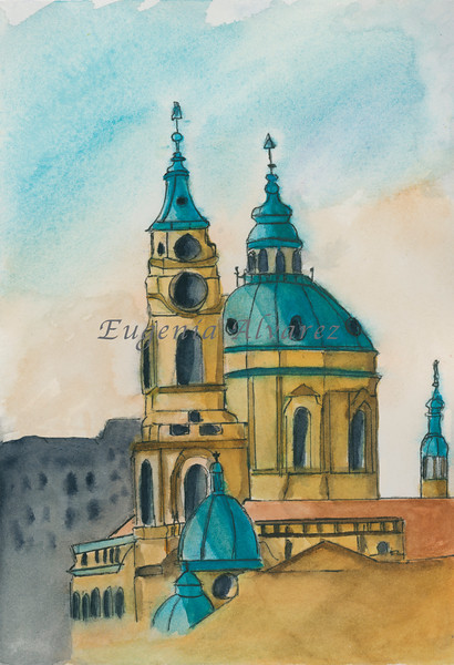 A church -  Watercolor