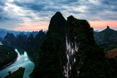 Karst Mountains, Xianggong hill near Guilin, China