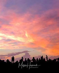 Miller Outdoor Theater at sunset, Houston, Texas