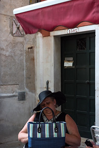 Napping tourist, Venice